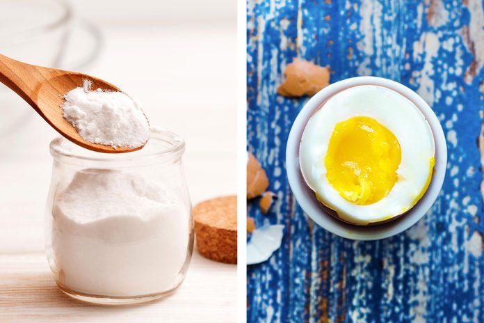 Baking soda as an egg peeling aidBaking soda as an egg peeling aid