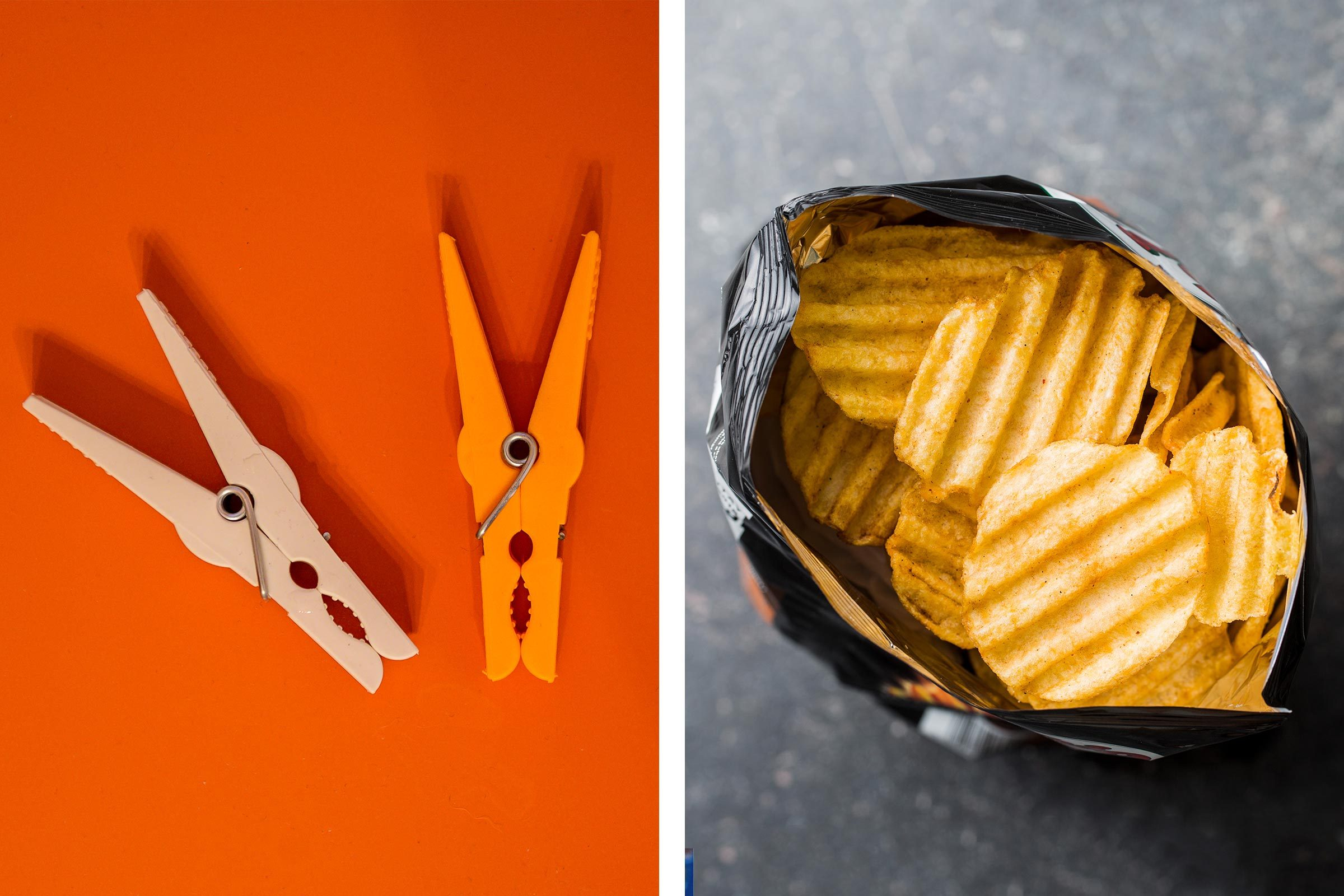 Clothes hangers as chip clips