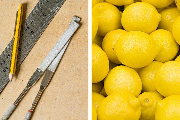 Wood rasp as lemon zester