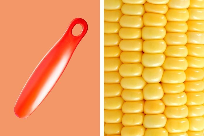 Shoehorn to remove corn kernels (and cupcakes)