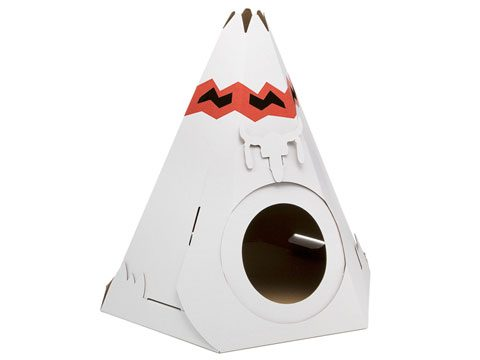 Cardboard Cat Tee Pee