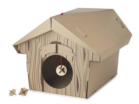 Cardboard Cat Chalet