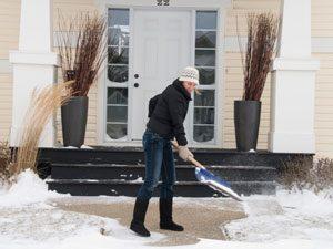 De-ice your sidewalk with garlic.