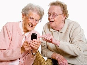 Senior Citizens Texting