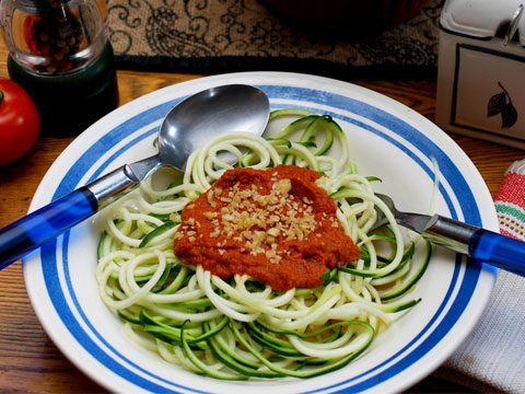Zucchini Noodles with Sun-Dried Tomato Sauce
