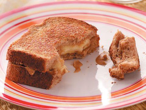Toasted PB & Banana Sandwiches