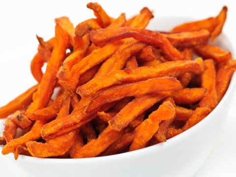 Instead of French fries try: Baked yam fries