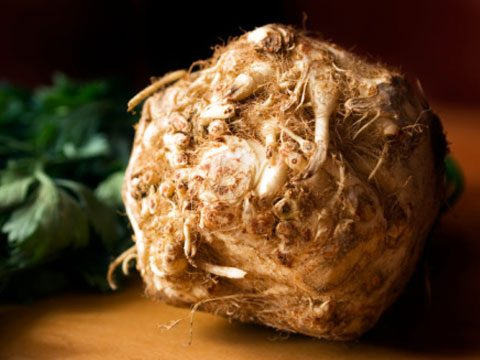 Instead of a baked potato try: Baked celery root