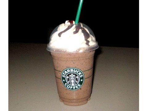 Starbucks' Double Chocolaty Chip Frappuccino Blended Creme with whipped cream