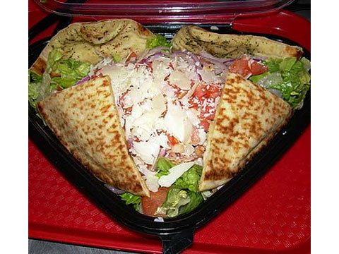 Quiznos' Chicken With Honey Mustard Flatbread Salad