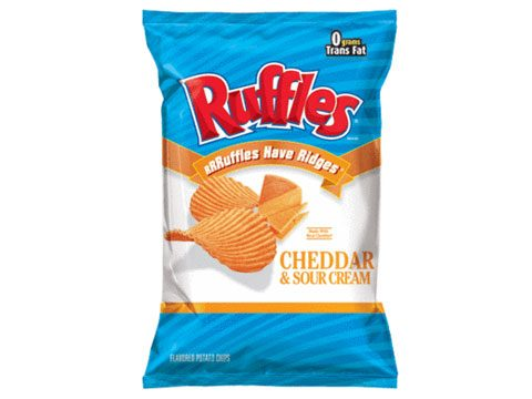 Ruffles' Cheddar & Sour Cream Flavored Potato Chips
