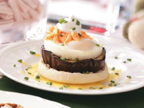 5. Eggplant Eggs Benedict