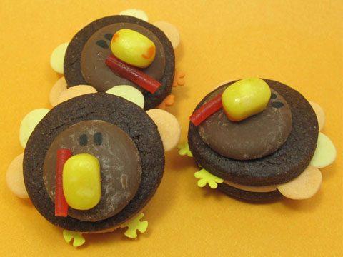 Bite-Sized Turkey Cookies