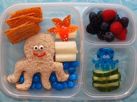cookie cutter lunch, ocean friends