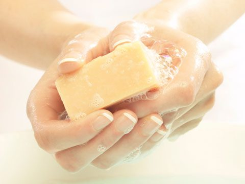 5. Washing your hands with antibacterial soaps helps prevent colds.