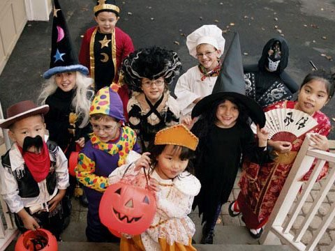 for young children halloween night is one of the best of the year but trick or treating can be dangerous if kids and parents arent careful - Children Halloween Pictures