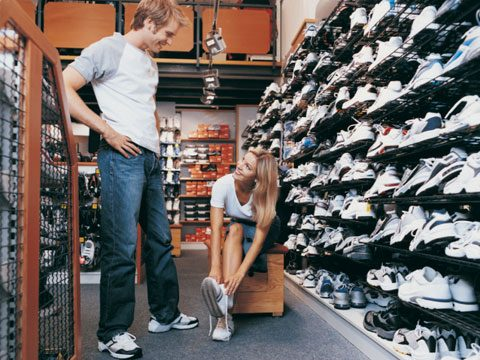 6. Buy shoes at a specialty running store, even if you just walk for exercise.