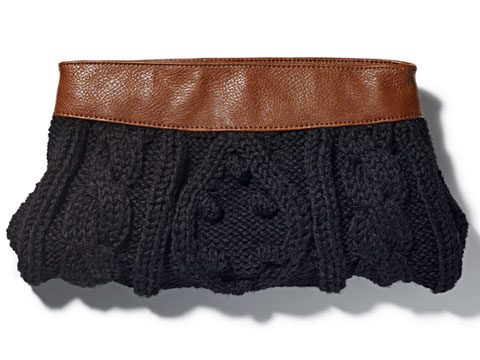 holiday gift guide, Mudpie cable knit clutch