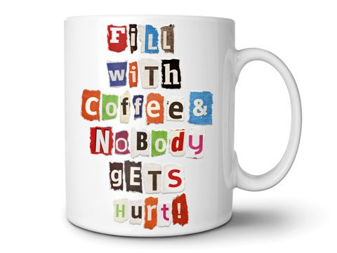 holiday gift guide, Mixed Messages DIY Ransom Note Mug