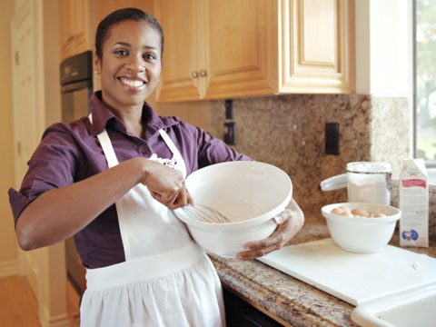 Sneak in Holiday Exercise woman whisking