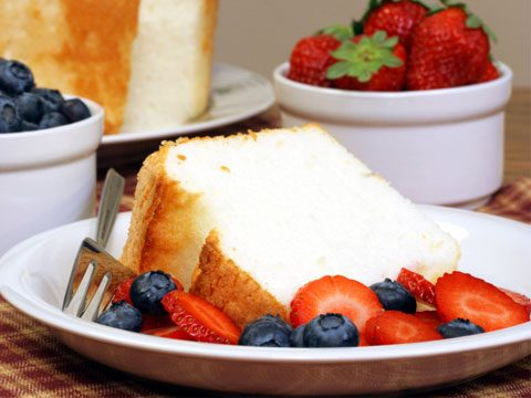 7. Top angel food cake with fruit instead of 2 tablespoons of chocolate syrup. Calories saved: 100