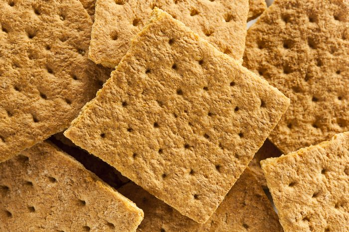 Healthy Honey Graham Crackers on a Plate
