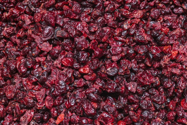 A group of dried cranberries. pattern
