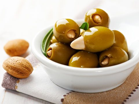13. Green olives or black olives