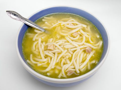 5. What is a chicken noodle in Campbell's Chicken Noodle Soup?