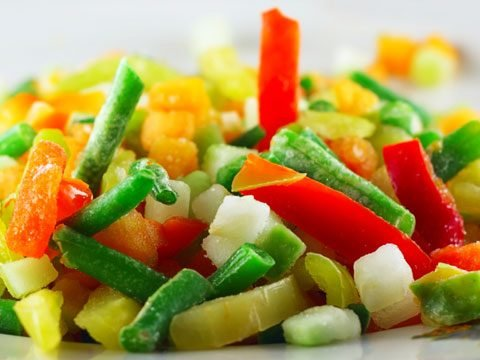 3. Frozen fruit and vegetables