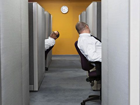 Funniest Moments of 2011, office coworkers talking from cubicles