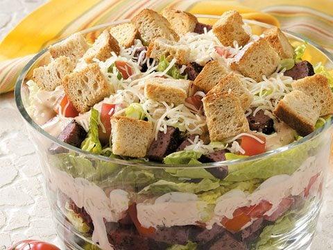 Layered Salad Reuben-Style