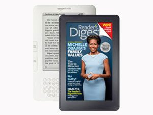 <i>Reader's Digest</i> on Amazon Kindle