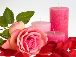 Rose-Scented Candles