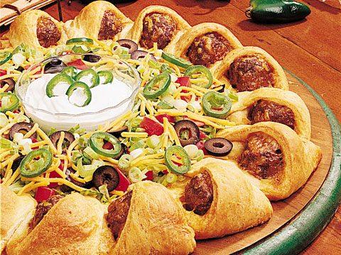 Taco Meatball Ring