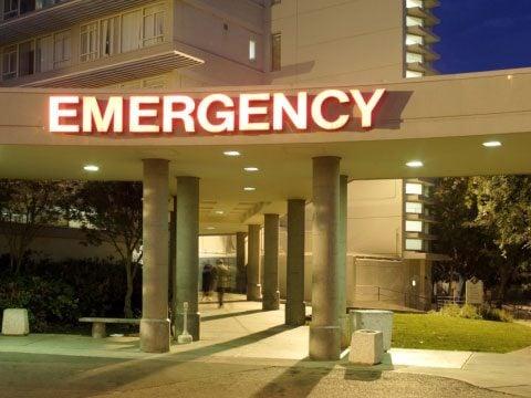 ... in the emergency room.