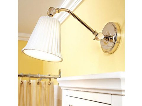 1. Use extended light fixtures over medicine cabinets
