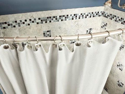 Tip 4: Install a curved curtain rod