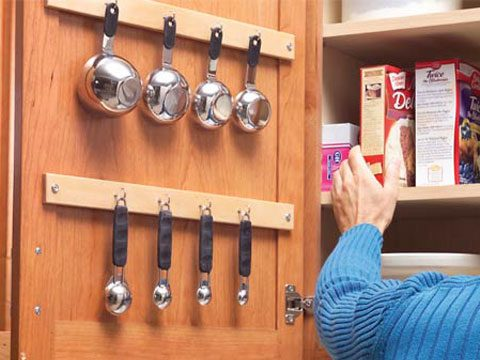 pantry and cabinet organization tips, measuring cups