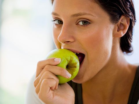 4. What happens when I snack on an apple?