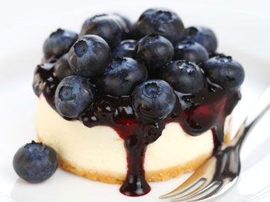 food finishing touches blueberry cheesecake
