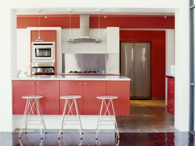 color psychology tips for your home red kitchen