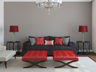 color psychology tips for your home gray living room