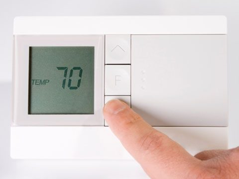 Keep your thermostat set above 65°F in the winter.