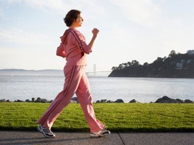 secrets of healthy Americans walking