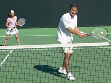 secrets of healthy americans playing tennis