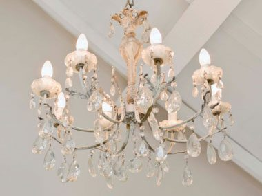 real estate agent chandelier