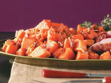 Coconut-Pecan Sweet Potatoes Recipe >>