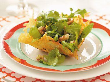 Parmesan, Walnut & Arugula Baskets Recipe