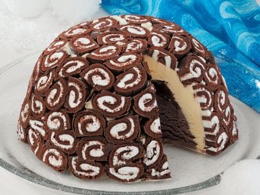 Swiss Swirl Ice Cream Cake